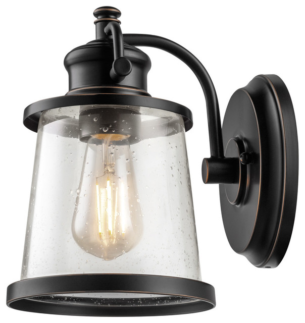 Isaac Bronze Outdoor Wall Sconce - Transitional - Outdoor Wall ...