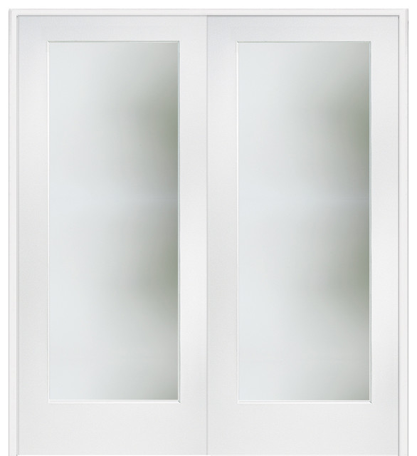 Masonite clear 1 lite satin etched primed wood interior for 1 lite french door