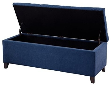 Madison Park FPF18-0143 Shandra Bench Storage Ottoman, Navy