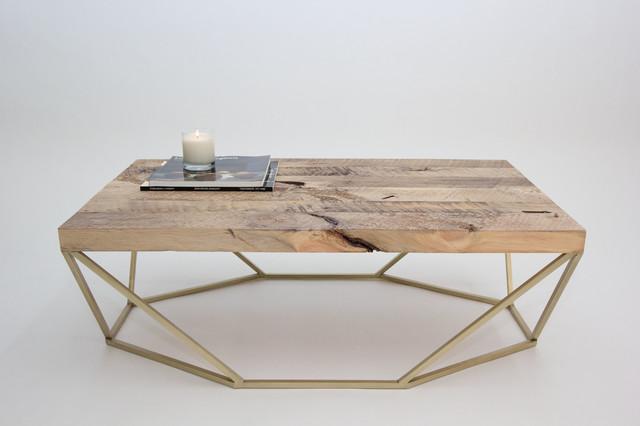 Dusk Coffee Table - Reclaimed Wood/Brass contemporary-coffee-tables - Coil + Drift Dusk Coffee Table - Reclaimed Wood/Brass - Coffee