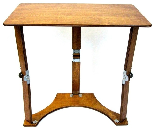 Spiderlegs Wooden Folding Laptop Desk/Tray Table, Warm Oak