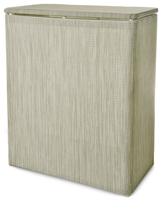 Lamont Home Berkeley Textilene Upright Hamper, Sage.