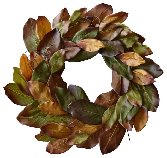 """Fiesta Magnolia Wreath 29""""."""