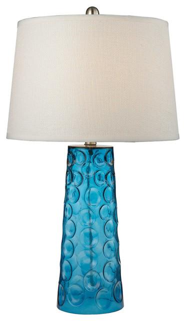 Dimond Lighting D2619 Hammered Glass 1-Light Table Lamp.