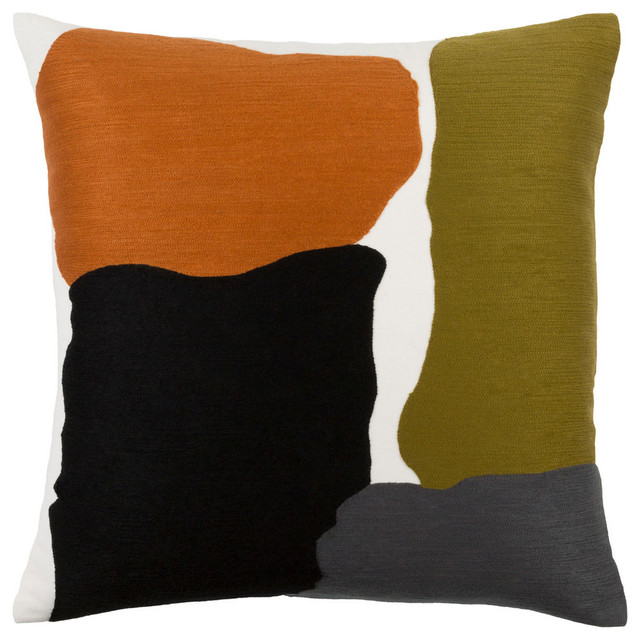 """Surya Charade 22""""x22"""" Large Square Pillow Cover."""