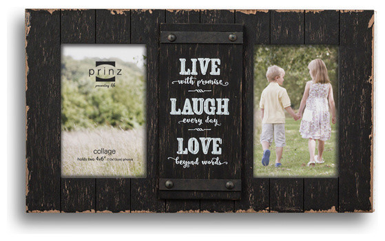 Cooper 2-Opening Black Collage \'Live, Love, Laugh\' Frame, 4x6 ...