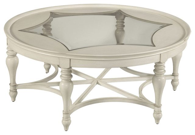 Sanibel Round Cocktail Table, White
