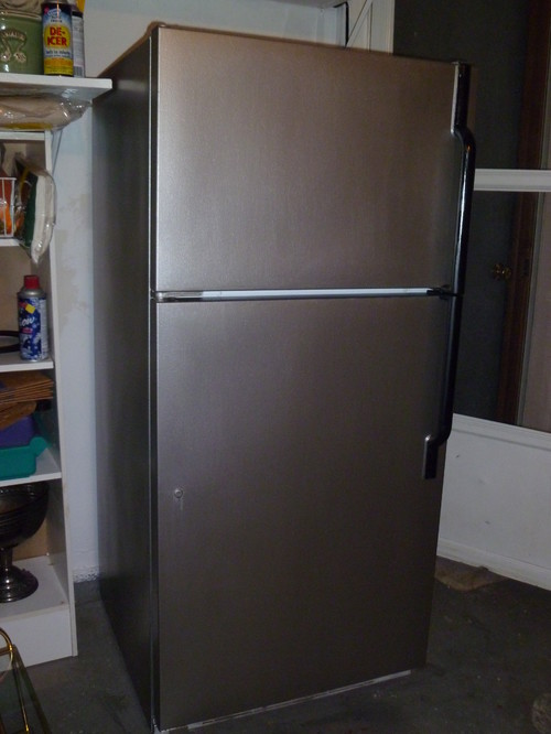 Paint Your White Fridge To Make It Look Like Stainless Steel