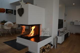 heizkamin dreiseitig stuttgart von thomas lorenz. Black Bedroom Furniture Sets. Home Design Ideas