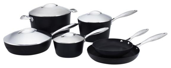 Scanpan Professional 10-Piece Deluxe Cookware Set.