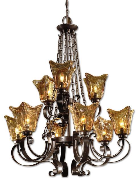 Uttermost Vetraio 9 Light Chandelier Oil Rubbed Bronze