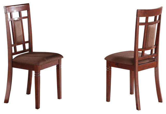 Sonata Side Chair Cherry And Chocolate Mfb Set Of 2