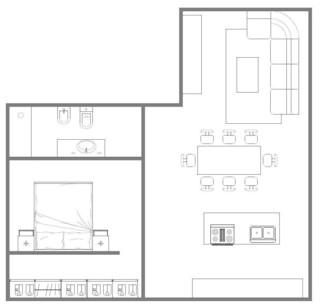 Dimensioni minime soggiorno cucina - Dimensioni minime cucina bar ...