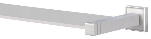 Cubis-Plus Glass Shelf, Satin Nickel