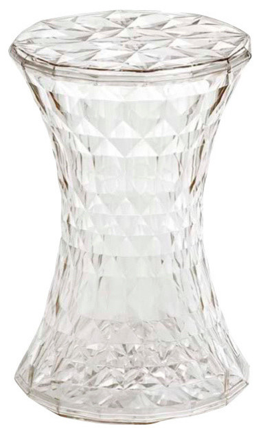 Kartell Stone Stool, Transparent Crystal