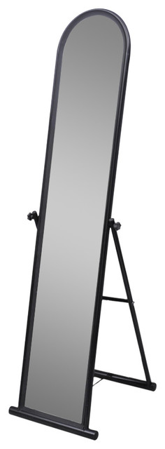 Vidaxl Free Standing Floor Mirror, Full Length Rectangular, Black.