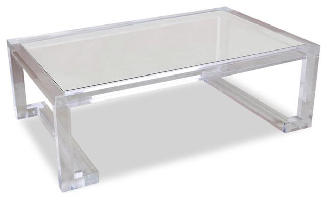 Ava Hollywood Regency Modern Gl Acrylic Coffee Table