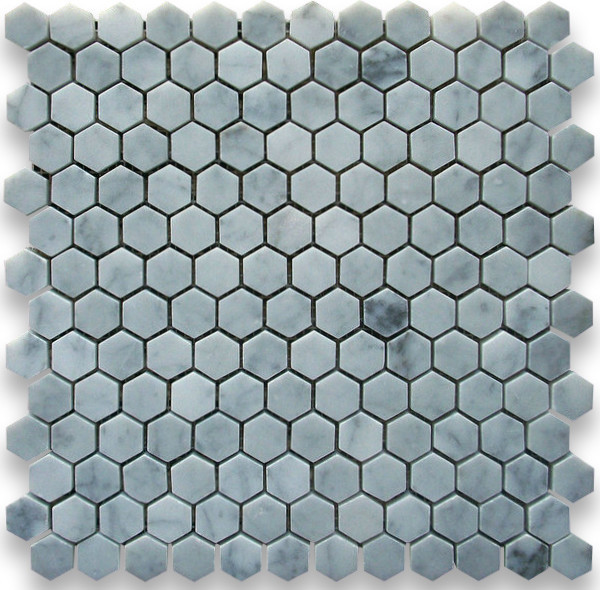 Stone Center Corp 12 Quot X12 Quot Carrara White Hexagon Mosaic
