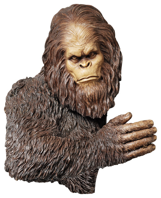 Bigfoot The Bashful Yeti Tree Sculpture Eclectic Garden Statues And Yard