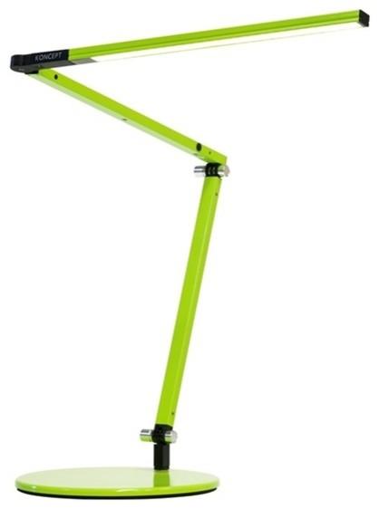 Z-Bar Mini LED Desk Lamp with Base Warm Light/Green by Koncept Inc.