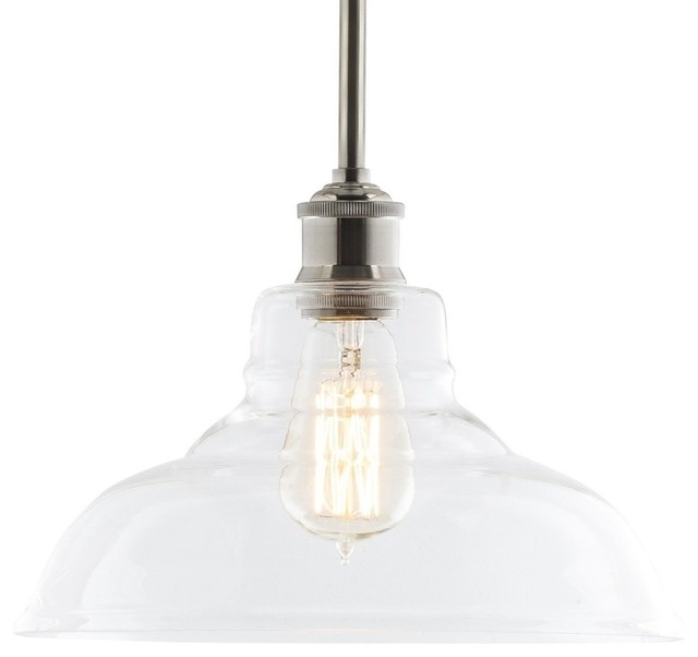 Lucera Pendant Light Brushed Nickel Farmhouse Pendant Lighting by Line