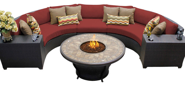 Exceptional Barbados 6 Piece Outdoor Wicker Patio Furniture Set, Terracotta Patio  Furniture And