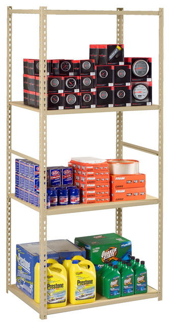 z line low profile boltless shelving starter unit. Black Bedroom Furniture Sets. Home Design Ideas