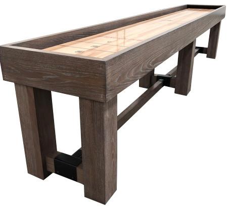 12u0027 Shuffleboard Table Handmade In A Grey Finish
