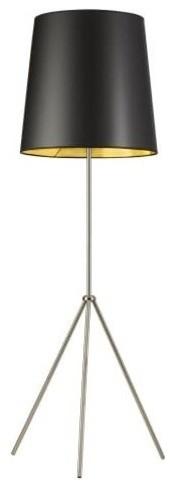 Dainolite Od3-F-698 Oversized Drum Single Light 66 Tall Tripod Floor Lamp.