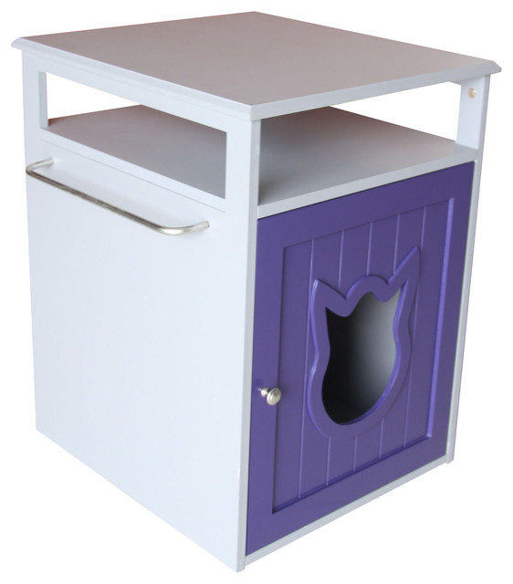 Kitty cat thunderbox pet house litter box and night stand for Multi night stand