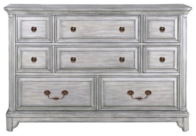 Magnussen Windsor Lane 8 Drawer Dresser Weathered Gray