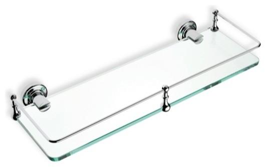 Clear Glass Bathroom Shelf Traditional Bathroom Shelves By Thebathoutlet Houzz