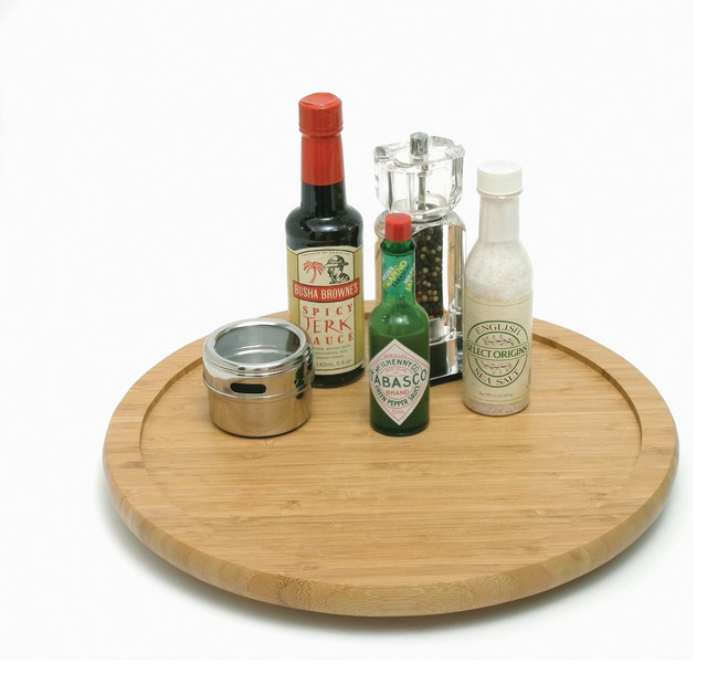 "Bamboo 14"" Turntable - Contemporary - Pantry And Cabinet Organizers - by Lipper International"