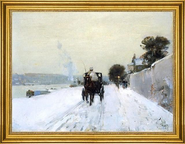 "Frederick Childe Hassam-18""x24"" Framed Canvas."