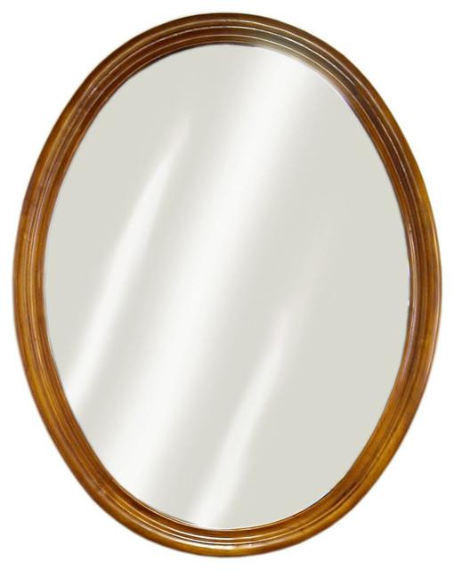 Oak Semi-Circle Mirror.