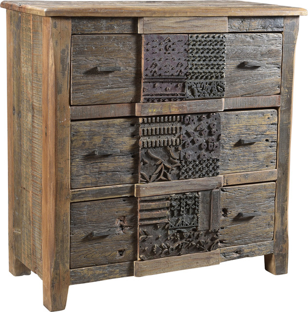 Printer Modern 3 Drawer Chest By Moe&x27;s Home.