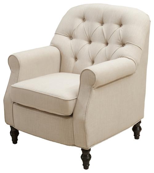 Verona Fabric Club Chair, Beige