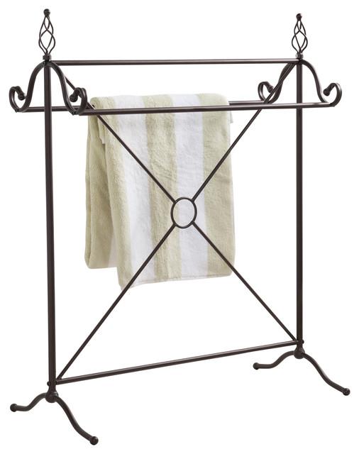 Brennan antique style metal towel rack bronze for Southwestern towel bars
