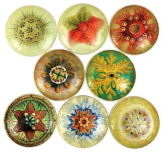 8-Piece Set Natural Mandala Pattern Cabinet Knobs ...
