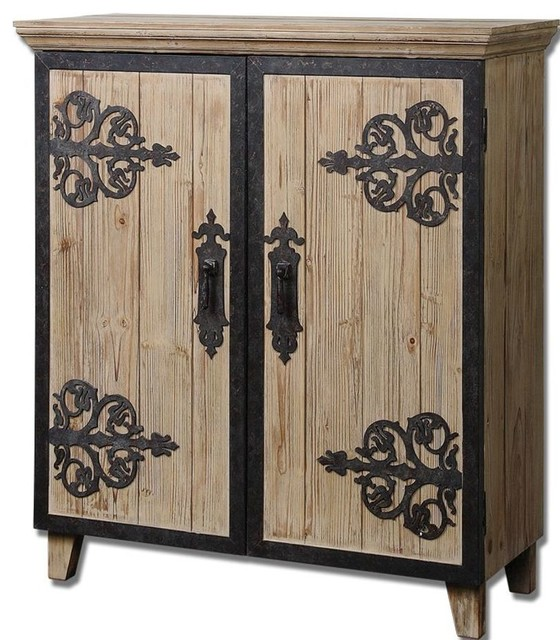 Metal Home Decor Traditional Accent Chests Houzz Uttermost Brown Stunning Stained Cabinet Rustic Wood