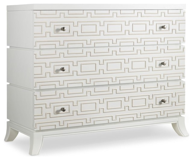 Oasis Wooden Dresser, White - Transitional - Accent Chests And Cabinets - by Hooker Furniture