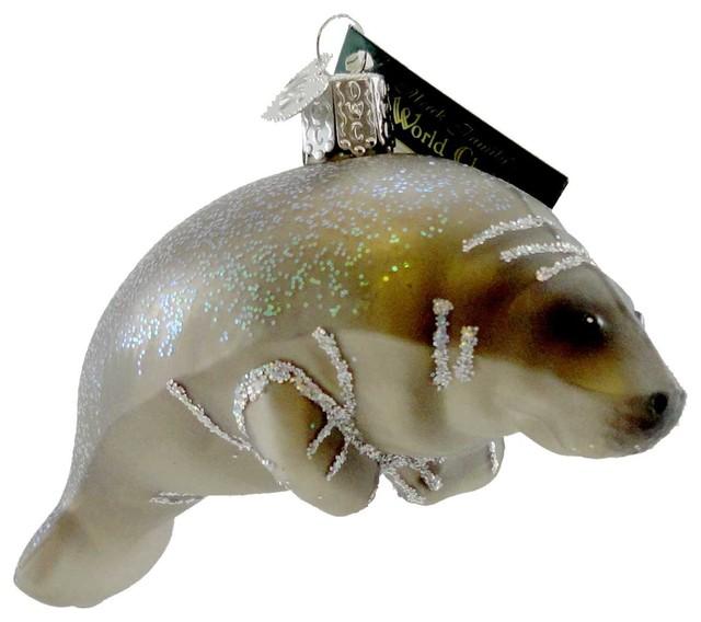 GOLD JELLYFISH OLD WORLD CHRISTMAS GLASS SEA OCEAN NAUTICAL ORNAMENT 12147