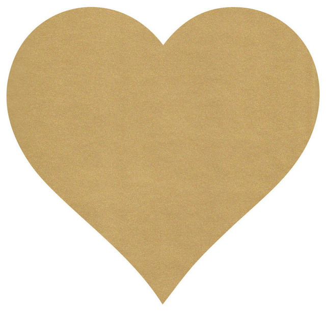 Large Heart Wall Decor : Houzz wall dressed up large metallic gold heart