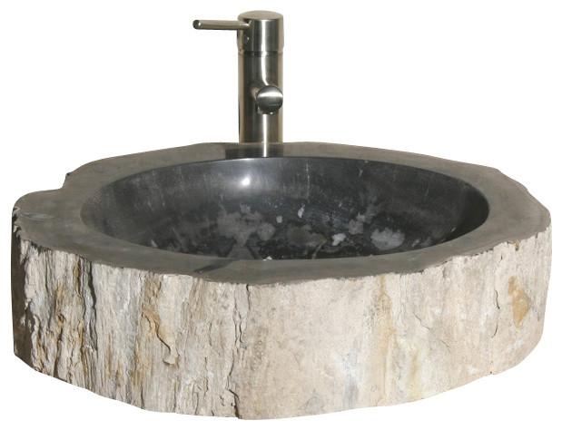V-Vnpbkb Petrified Bkb1 Vessel Sink.
