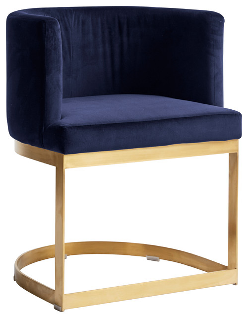 Half Circle Dining Chair, Blue