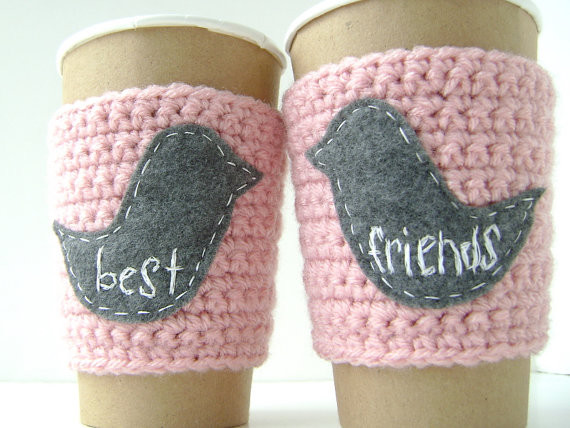 Personalized Coffee Cup Cozy, Best Friends by The Cozy Project