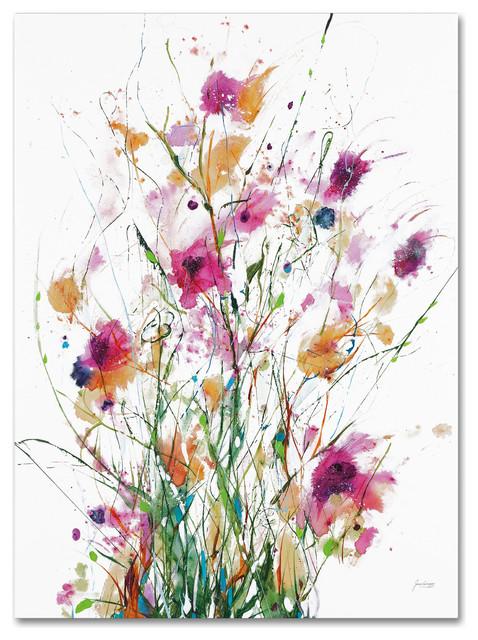 """Jan Griggs &x27;hidden On White Crop&x27; Canvas Art, 35"""" X 47""""."""