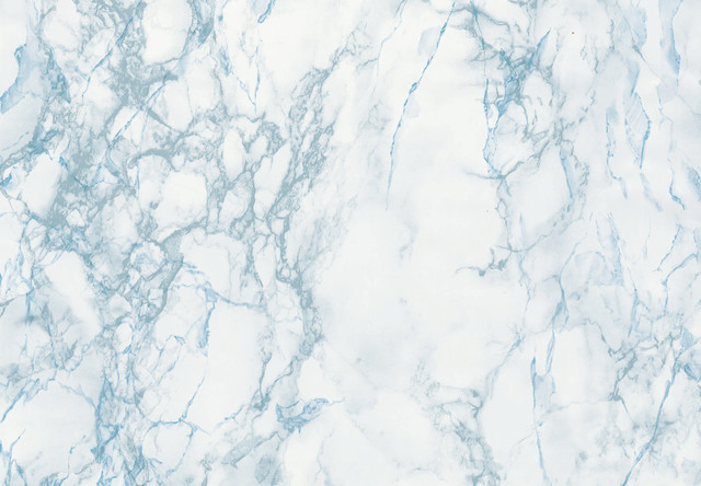 Grey And Blue Marble Adhesive Film.