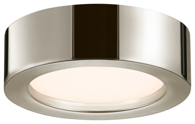puck slim led flush mount with white acrylic diffuser. Black Bedroom Furniture Sets. Home Design Ideas