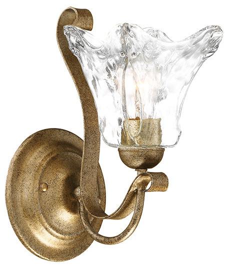 "Millennium Lighting Chatsworth Single Light 11.5"" Bathroom Sconce, Vintage Gold"